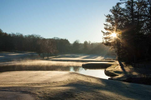 morning frost at Highlands Falls Country club