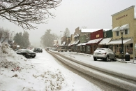 Downtown Highlands in winter