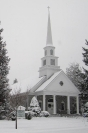 First Methodist Church at Christmastime