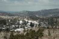 winter view of Highlands from Sunset Rock
