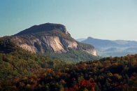 Autumn view of Whiteside Mtn.