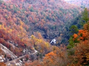 autumn view of the Cullasaja Gorge