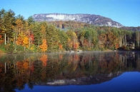 autumn reflection of Whiteside Mountain