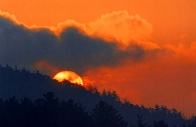 Moon and Sunsets :: Sunrise over Sagee Mountain (horizontal)