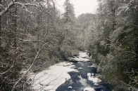 Winter Snow on the Chattooga River