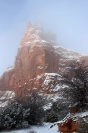 American Southwest :: Fog and Snow, Arches National Monument, Utah