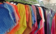 Deb Bryant woven tops and scarves